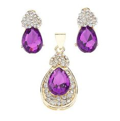 HFJandYIEandH Jewelry-Necklaces / Earrings(Crystal / Agate / Gem)Wedding Wedding Gifts >>> Visit the image link for more details. #JewellerySets