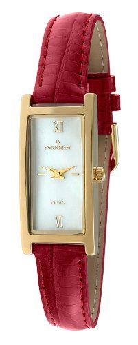 Peugeot Women's 3017RD Gold-Tone Red Leather Strap Watch Peugeot,http://www.amazon.com/dp/B001L4D2EK/ref=cm_sw_r_pi_dp_eRl2sb069BY7G621