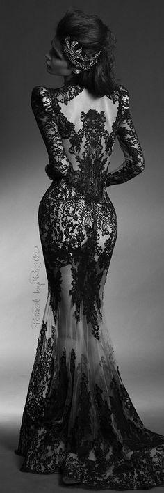 Regilla ⚜ Gothic black wedding dress