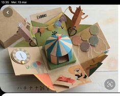 Cardboard Box Crafts, Paper Crafts, Scrapbooking Journal, Diy For Kids, Crafts For Kids, Pop Up Art, Paper Pop, Fun Diy Crafts, Diy Cards