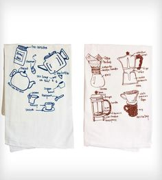 Coffee & Tea Lovers Tea Towels - Set of 2 | Home Kitchen & Pantry | Girls Can Tell | Scoutmob Shoppe | Product Detail