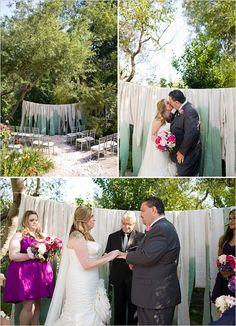 ombre wedding alter