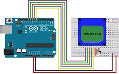 Circuito Arduino e display Nokia 5110