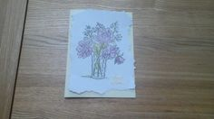 Watercolour stamping card.
