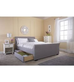 Guest Bed - Image for Hannover 4 Drawer Fabric Bed from studio