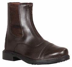The most popular boot for beginner riders-Great for horse camp! (https://www.lexingtonhorse.com/tuffrider-childrens-starter-front-zip-paddock-boots/)