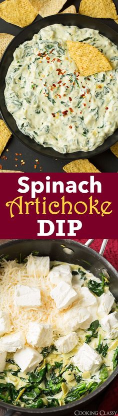 Spinach Artichoke Dip - this is my FAV! It was a total hit and it's easy so to make! Cooks on the stovetop in under 10 mins.