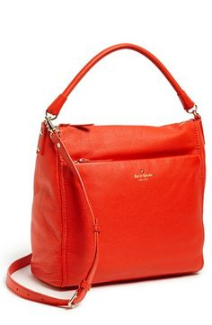 kate spade new york 'cobble hill - curtis' hobo available at #Nordstrom I got this bag yesterday in the orange color. It's absolutely gorgeous!