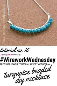 I never would have thought to try a necklace like this if it weren't for @happyhrprojects' great tutorial! #WireworkWednesday