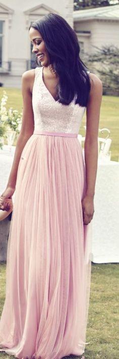 Kelsey Rose pink bridesmaid dress idea