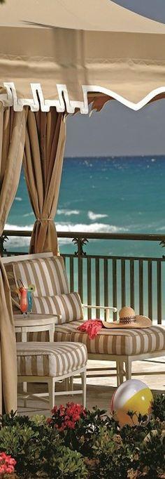 The Ritz-Carlton, Palm Beach.now Eau Palm Beach Coastal Homes, Coastal Living, Beach Homes, Cabana, Beach Paradise, Porches, Outdoor Spaces, Outdoor Living, Paradis Tropical