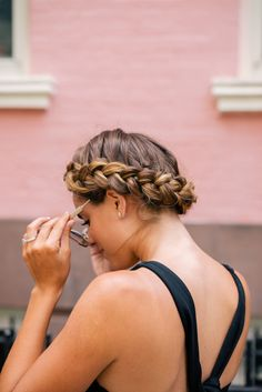 Gal Meets Glam Two Braids, One Way - Crown braid courtesy of TRESemmé