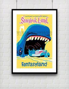 Vintage FANTASYLAND Gateway to Enchantment STORYBOOK LAND Disneyland Poster Reprint Not Framed 18x24