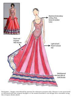 DIY Peach Georgette Anarkali Suit