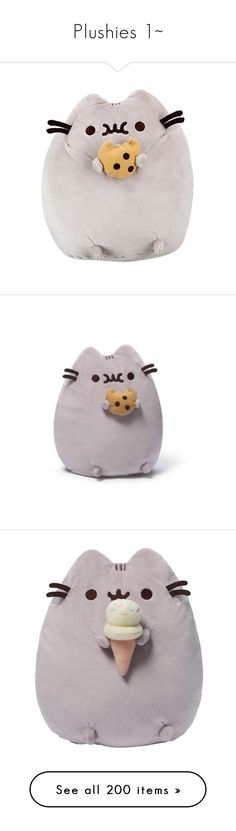 """""""Plushies 1~"""" by safella ❤ liked on Polyvore featuring plushies, fillers, stuffed animals, home, toys, plushie, pusheen, stuffed toys, accessories and baby"""