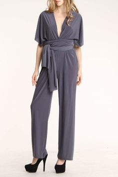 Annalee + Hope Multi-Way Jumpsuit In Smoke.