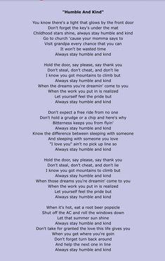 Tim McGraw--- Humble and Kind