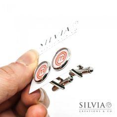 Gemelli da polso logo Masterchef con sfondo bianco da 12 mm
