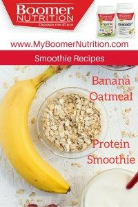 Banana Oatmeal Protein Smoothie