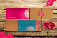 wedding invite in chalk board colours , subdued invited , subtle invites , pink, blue and  brown invites, vintage feel cards