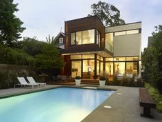 Contemporary dream house with swimming pool