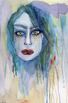 Check out this item in my Etsy shop https://www.etsy.com/listing/196419949/woman-abstract-watercolor-painting