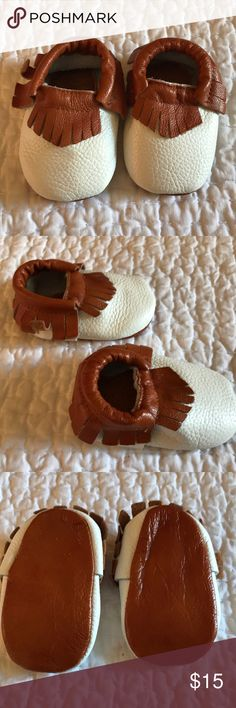NWT Baby Leather Moccasins Booties NWT Baby Leather moccasin booties. What baby wouldn't be adorable in these moccasins? Soft, comfortable leather. New Shoes Moccasins