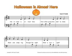 Free Halloween Sheet Music* -- various levels