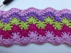 "Crochet with eliZZZa * ""Stars & Waves"" Crochet stitch with two rows - YouTube"