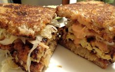 Fermented and Pickled Foods are Healthy and Delicious - Try These! Pictured: Tempeh Reuben Sandwich.