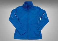 This fleece jacket is designed to be stylish and comfortable for men and women.
