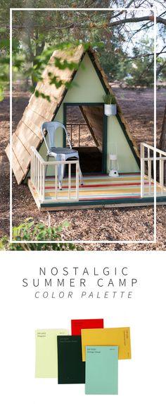 Nostalgic Summer Camp DIY Playhouse