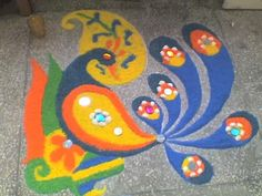 peacock rangoli designs 3