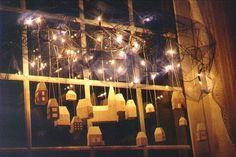 """Fensterdekoration Weihnachtsdorf""....Christmas Decorating in Germany today."