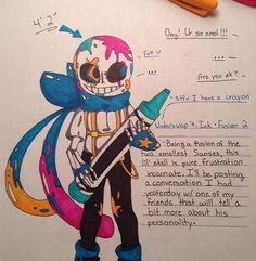 I got bored so I fused Ink and Blueberry~ #sans #undertale #underswap…