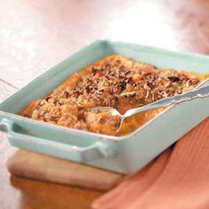 +pib  Makeover Crunchy Sweet Potato Casserole  http://www.tasteofhome.com/recipes/Makeover-Crunchy-Sweet-Potato-Casserole