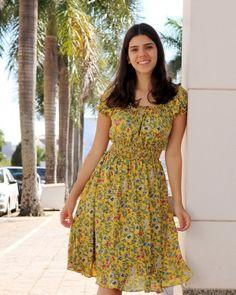 """100b75b7c Puro Sharmy on Instagram: """"@elizieribeiro linda com a silhueta perfeita  acinturada de lastéx 😊❤⠀ Vestido lindo da nova coleção verão 2019!"""