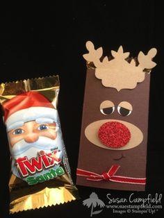 Sweet Rudolph with a Santa Treat Hiding Inside!