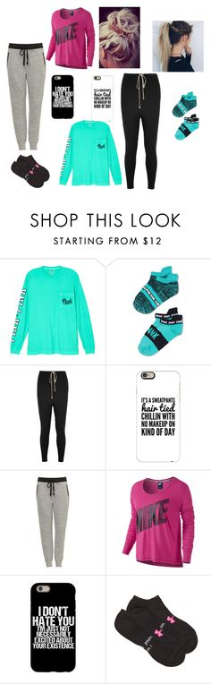 """""""outfit #16"""" by ash-237 on Polyvore featuring Victoria's Secret, Capelli New York, Rick Owens, Casetify, NIKE and Under Armour"""