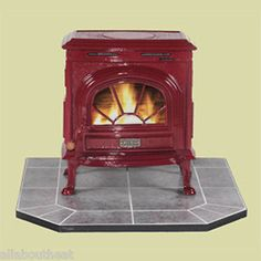 For that down home feeling. Hudson River Catskill Cast Iron Small Wood Stove. Red Enamel