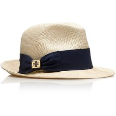 Tory Burch classic grosgrain fedora ($95) ❤ liked on Polyvore