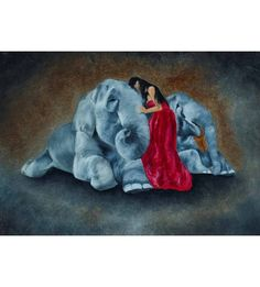 Elephant Love 2 Painting