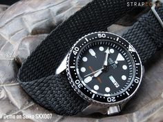 Seiko Diver SKX007 | Never go wrong with Perlon straps | strapcode