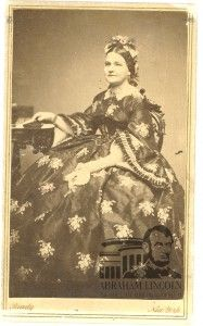 Mary Lincoln wore the strawberry dress in her first spring as First Lady, in 1861.
