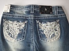 Hippie Laundry Washed Bootcut Jeans w/ Decorative Back Pocket Sz 7 Juniors New #HippieLaundry #BootCut