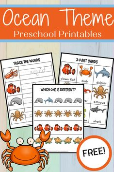 Summer Preschool Themes, Free Preschool, Preschool Printables, Preschool Lessons, Kindergarten Worksheets, Preschool Activities, Learning Colors, Kids Learning, Ocean Themes