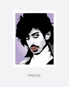 A hand and digitally drawn image of Prince. An American singer, songwriter and multi-instrumentalist. Created by Mike Moran. Uk Prince, Illustration Art, Illustrations, Pop Singers, American Singers, Hand Drawn, How To Draw Hands, Celebrity, Retro