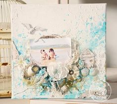 Mixed Media canvas project by Stacey Young for Prima