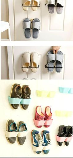 Adhesive Shoes Rack Wall Hanging   Smart Shoe Storage Ideas & Designs For Any Zoom Size