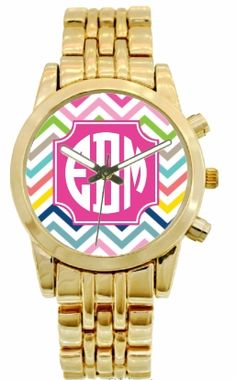 Gold Monogrammed Boyfriend Watch - DESIGN YOUR OWN ONLINE!